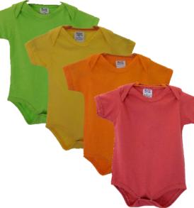 4 cores de body: verde, amarelo, laranja e melancia