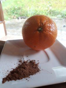 cacau e laranja