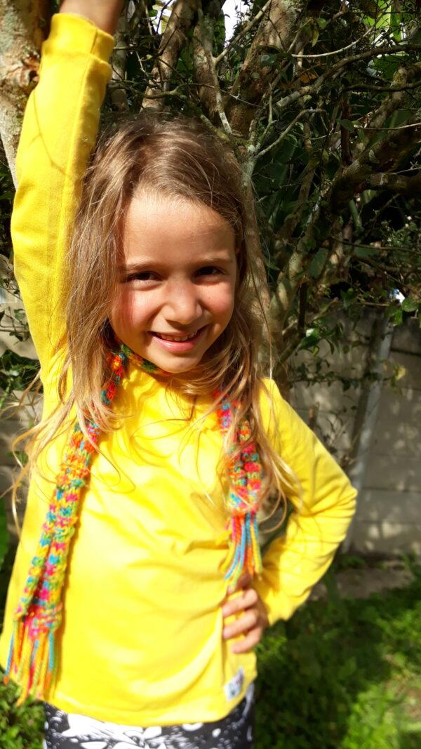 Camisa longa amarela