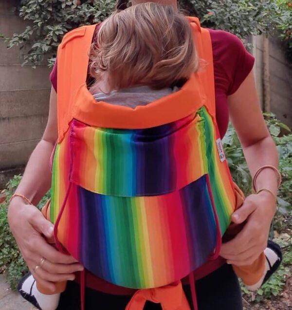 Meitai arco-íris com faixas laranja