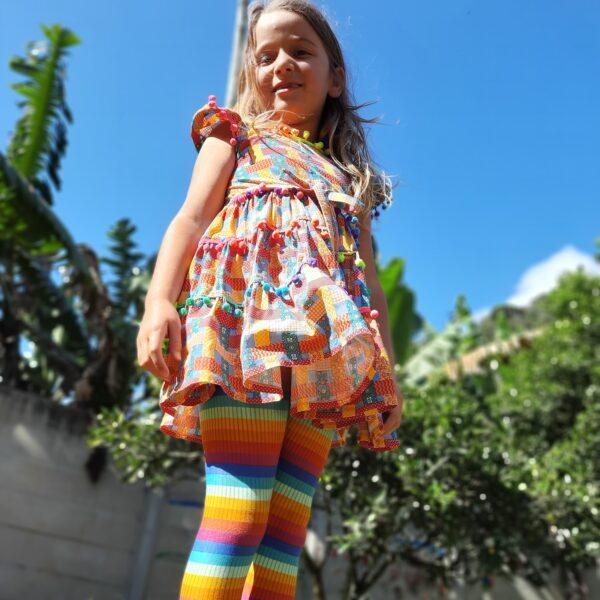 legging arco-íris